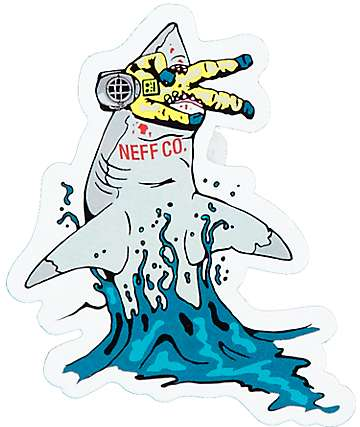 Neff Shark Food sticker