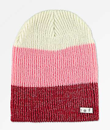 Neff Sparkle Trio Dusty Rose Beanie