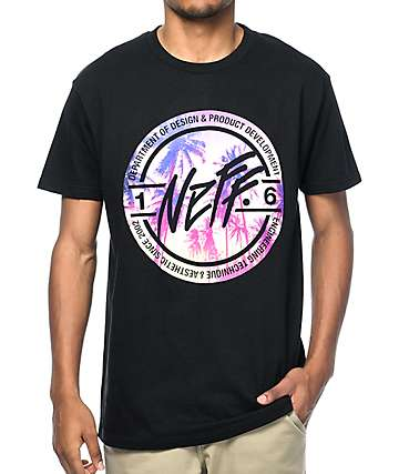 Neff Stamper Sunset Black T-Shirt