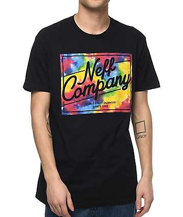 Neff Tie Dye Deluxe camiseta negra
