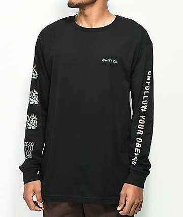 Neff Unfollow camiseta negra de manga larga