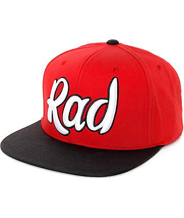 Neff Word Cap Rad Red & Black Snapback Hat