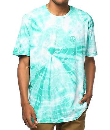 Neff Yeah Bro camiseta con efecto tie dye en verde azulado