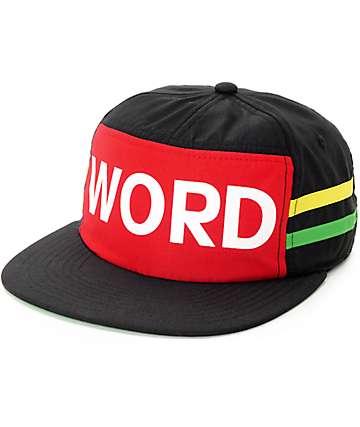 Neff Yo Cap Word Rasta Snapback Hat