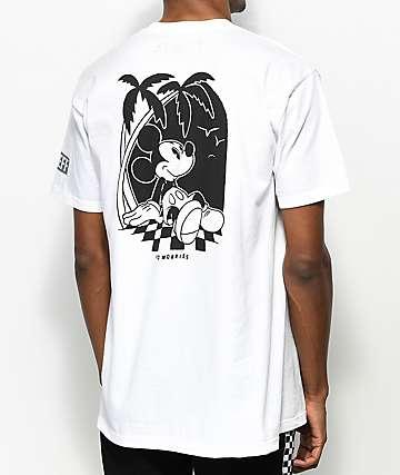 Neff x Disney Mickey No Worries camiseta blanca