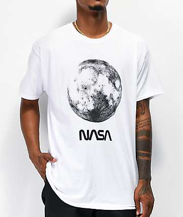 Neon Riot x NASA Full Moon White T-Shirt