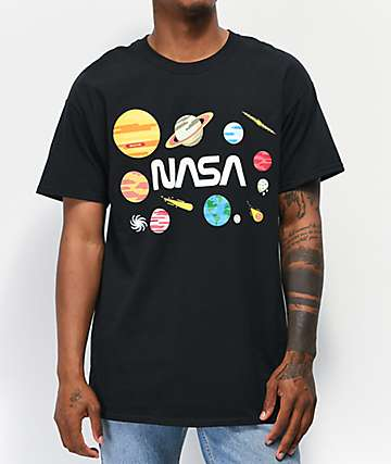 Neon Riot x NASA Planets Black T-Shirt