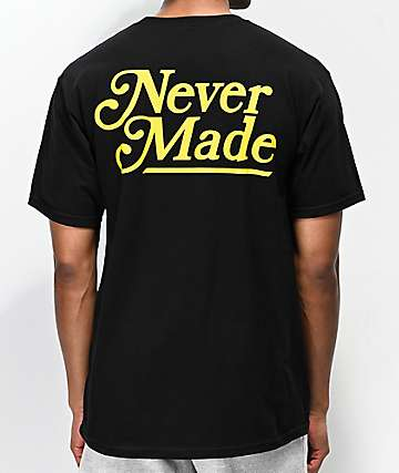 Never Made Booker Font Black T-Shirt