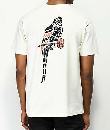 Never Made Death Parrot Cream T-Shirt