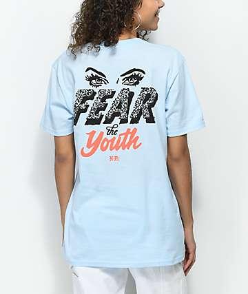 Never Made Fear The Youth camiseta en azul claro