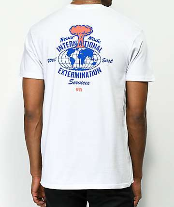 Never Made International Extermination White T-Shirt