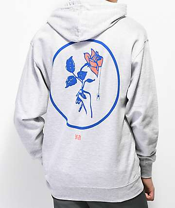 Never Made Window Rose 2 Grey Hoodie