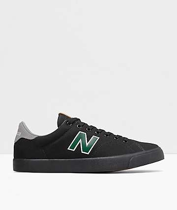 New Balance All Coasts 210 Black & Green Skate Shoes