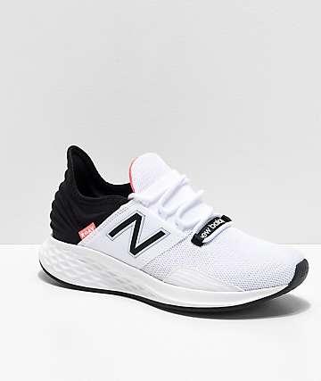 New Balance Fresh Foam Roav White, Black & Pink Shoes