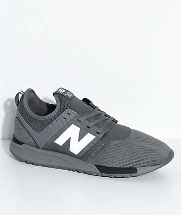 New Balance Lifestyle  247 Classic Grey & Black Mesh Shoes