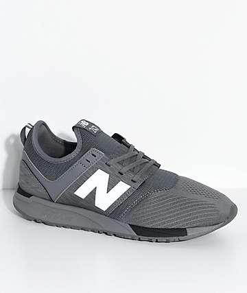 New Balance Lifestyle  247 Classic Grey & Black Mesh Shoes