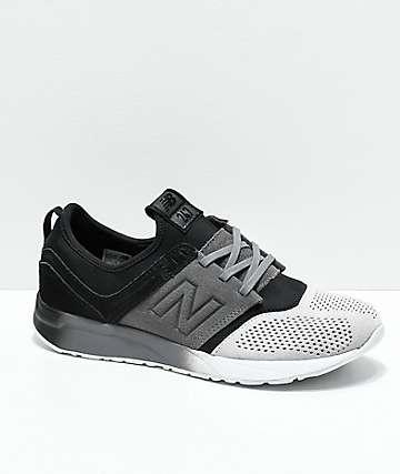 New Balance Lifestyle 247 Black & Castle Rock zapatos para niños