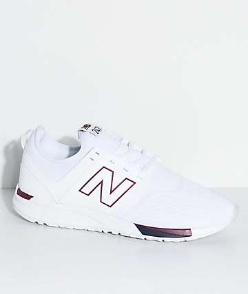 New Balance Lifestyle 247 Classic White & Burgundy Shoes