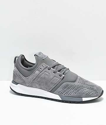 New Balance Lifestyle 247 Grey & White Suede Shoes