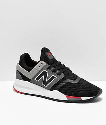 efc2b95c71d8a New Balance Lifestyle 247 V2 Black, Grey & White Shoes