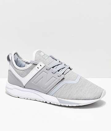 New Balance Lifestyle 247 zapatos de textil gris y blanco