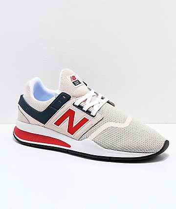 New Balance Lifestyle 247 zapatos en gris, blanco y rojo