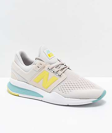 New Balance Lifestyle 247v2 Tritium Moonbeam & Sage Shoes