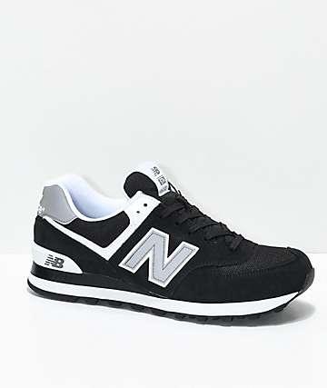 New Balance Lifestyle 574 Black & White Shoes