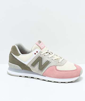 New Balance Lifestyle 574 Bone & Dusted Peach Shoes