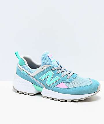 New Balance Lifestyle 574 Sport Blue Fog & Tidepool Shoes
