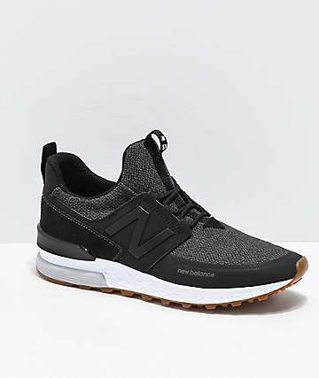 b1d47df1b87 New Balance Lifestyle 574 Sport Decon Black   Magnet Grey Shoes