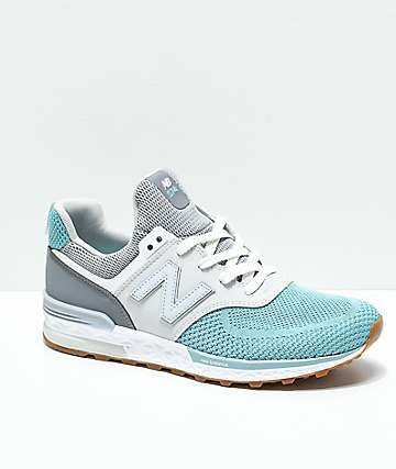 New Balance Lifestyle 574 Sport Gunmetal & Storm zapatos para niños