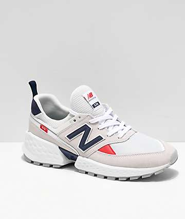 New Balance Lifestyle 574 Sport Nimbus Cloud & White Shoes