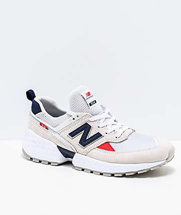 c3adb57bfbac6 New Balance Lifestyle 574 Sport Nimbus Cloud and White Shoes