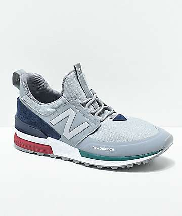 90f9b7371f1942 New Balance Lifestyle 574 Sport Steel & Pigment Shoes