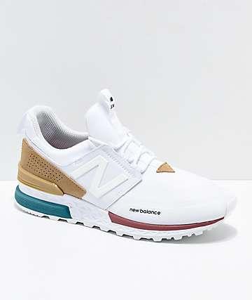 New Balance Lifestyle 574 Sport White & Hemp zapatos
