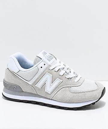 New Balance Lifestyle 574 zapatos en blanquecino y blanco