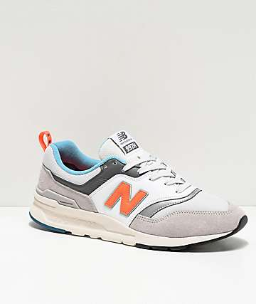 New Balance Lifestyle 997H Rain Cloud Grey, White & Orange Shoes