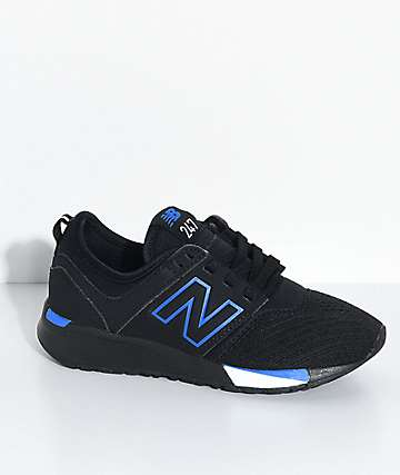 New Balance Lifestyle Boys 247 Classic Omni Black & Blue Shoes