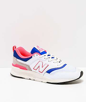 New Balance Lifestyle Men's 997H White, Lazer Blue & Pink Shoes