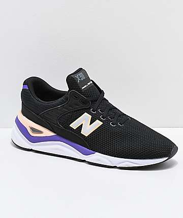 New Balance Lifestyle X-90 Black & Purple Shoes