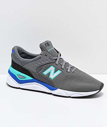 New Balance Lifestyle X-90 Castlerock & Tidepool Shoes