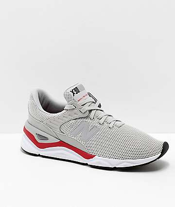 New Balance Lifestyle X90 Rain Cloud & Team Red Shoes
