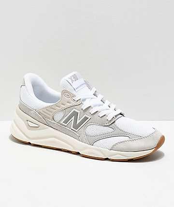 New Balance Lifestyle X90 Reconstructed Nimbus zapatos en blanco y gris