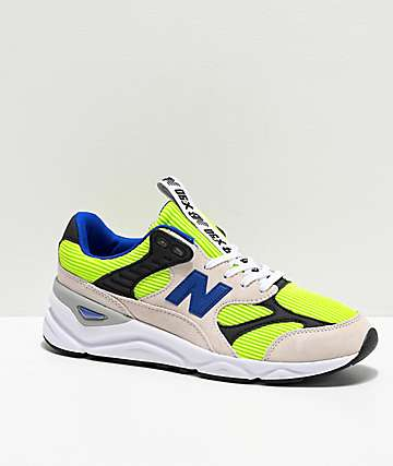 New Balance Lifestyle X90 Reconstructed White, Bleached Lime & Blue Shoes