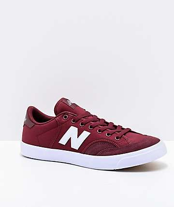 New Balance Numeric 212 Burgundy & White Skate Shoes
