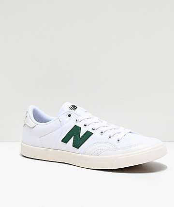 fa8287634f3be New Balance Numeric 212 White & Green Skate Shoes