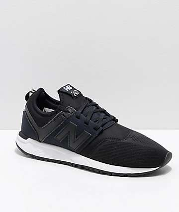New Balance Numeric 247 Black & White Mesh Shoes