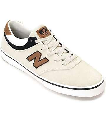 New Balance Numeric 254 Qunicy Stone, Black & Tan Shoes