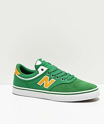 New Balance Numeric 255 Green & Yellow Skate Shoes